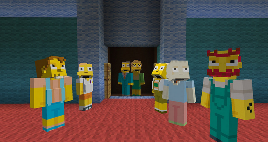 Minecraft's The Simpsons DLC for PS4 download