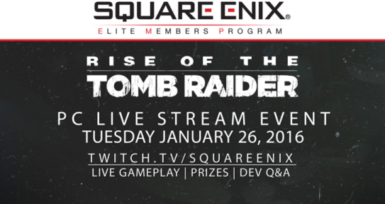 Rise of the Tomb Raider Live Stream Event