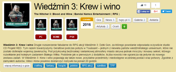 The Witcher 3 Blood and Wine Expansion Release Date Leaked