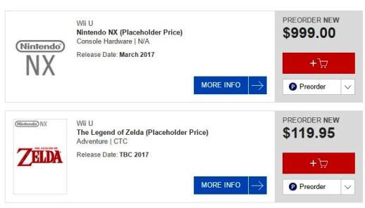 EB Games is Already Taking Pre-orders for The Nintendo NX ...