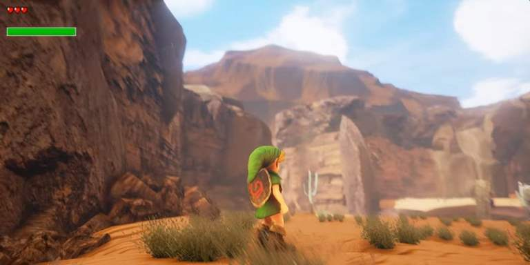 Legend of Zelda Ocarina of Time Gerudo Valley Screenshot