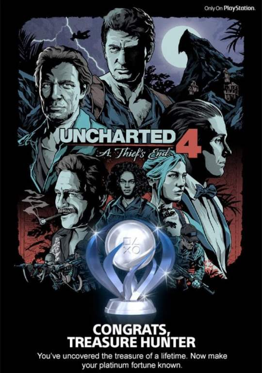 Uncharted 4 Platinum Trophy