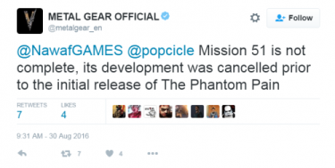 MGS V The Phantom Pain Mission 51 Cancelled