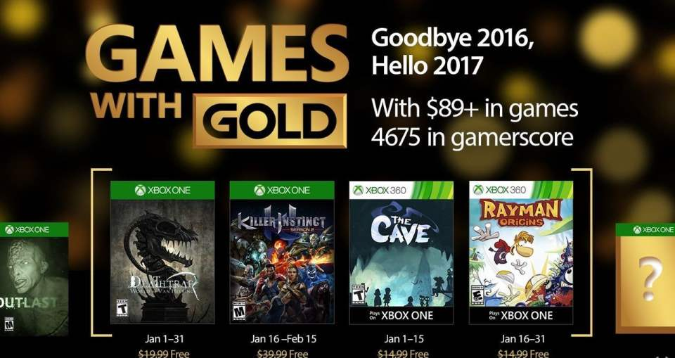 Xbox One Games with Gold January 2017 confirmed with Backwards Compatibility titles