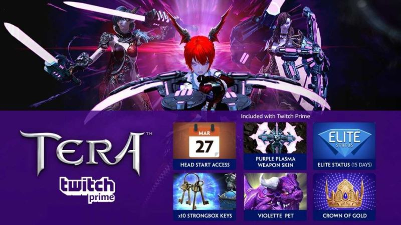 TERA Early Access on Twitch Prime