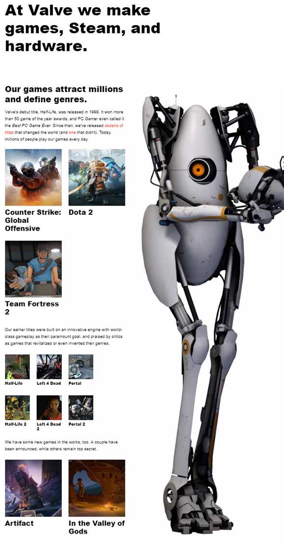 Valve's Official Website
