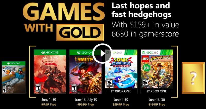 Xbox Games with Gold June 2018
