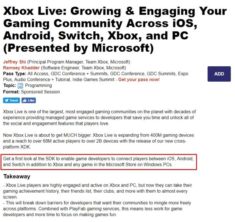Xbox LIVE Cross-Platform Gaming