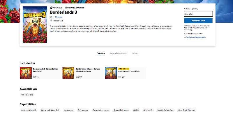 Borderlands 3 Supports Cross-Platform Play